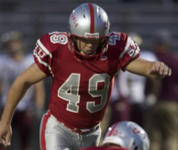 Senior kicker Tom Lynch - 2011 Fred Mitchell Award winner