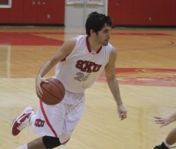 Senior Ed Gilgenbach had 16 points to help lead the Cougars past Judson Tuesday night