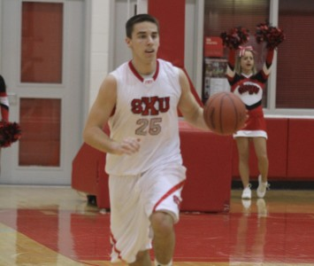 Sophomore Brad Karp scored 24 points against Cardinal Stritch Thursday night