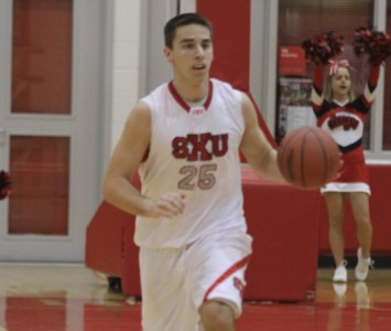 Sophomore Brad Karp had a game-best 26 points Thursday night against Olivet