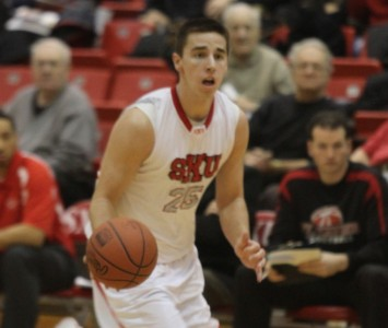 Sophomore Brad Karp set new career-highs of 39 points and 20 rebounds Saturday against No. 2 Robert Morris