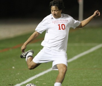 Senior Adrian Guzman had a shot on goal for the Cougars Saturday