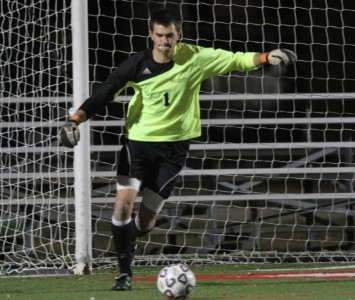 Sophomore Kyle Held finished with eight saves for the Cougars Monday against No. 2 Hastings
