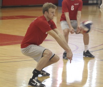 Sophomore Evan Muys had a match-best 17 kills against Cardinal Stritch Wednesday