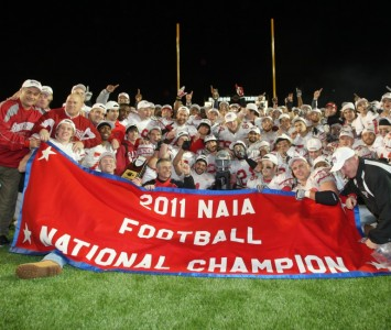 The SXU football team winning the NAIA national championship headlined an impressive year for Cougar Athletics