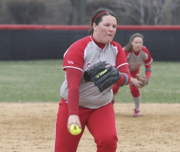 Sophomore Megan Nonnemacher got the win in relief in Friday's second game with Cornerstone