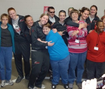 SXU women's basketball team enjoyed its time at the Madison-Haywood Developmental Services facility in Jackson, Tenn.
