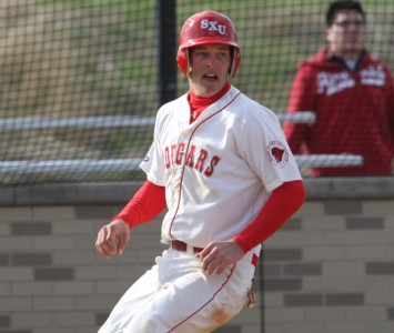 Junior Mike Pokers led Saint Xavier with three hits against Calumet College Friday night