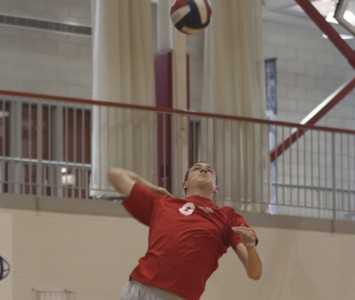 Junior Aaron Porter had 13 kills and seven digs for Saint Xavier Friday night