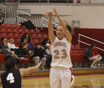 Senior Marissa Young had a solid all-around game for SXU Saturday against IUSB