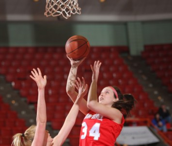 Senior Mary Kusner finished with 16 points and seven rebounds Tuesday against Holy Cross