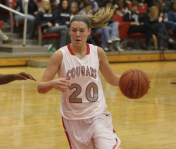 Senior Michelle Tourtillott had the hot hand with 16 points in a win over Saint Ambrose Tuesday