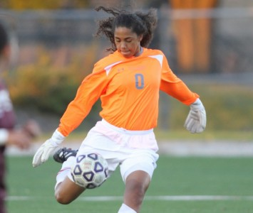 Sophomore Anita Balcuinas had 11 saves for Saint Xavier Saturday