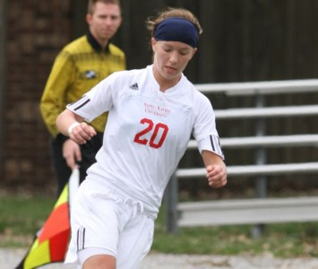 Junior Elysha Peele had the game-winning goal for SXU on a penalty kick