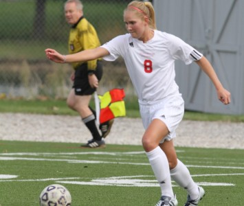 Senior Nancy Schueth scored Saint Xavier's lone goal Tuesday against IIT
