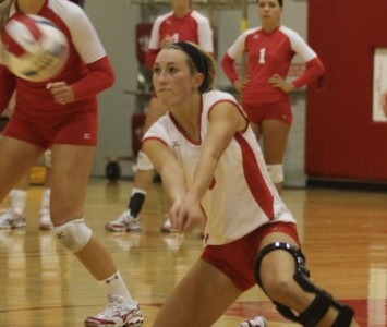 Junior libero Christine Bowe led the Cougars with 26 digs Tuesday