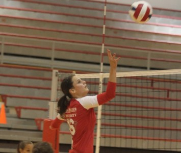 Junior Kelly Knudsen led the way with 17 kills for Saint Xavier against Ashford Thursday night