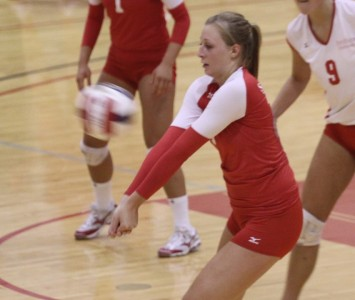 Junior Kayla Mullaney had 14 kills and nine digs for SXU Saturday evening