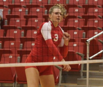 Junior Kayla Mullaney had 14 kills and 8 digs for the Cougars in Tuesday's win over Roosevelt