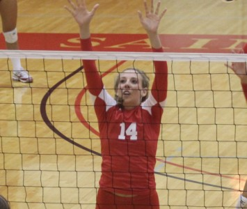 Junior Colleen O'Hara had 14 kills and five total blocks in SXU's big win over Trinity Christian