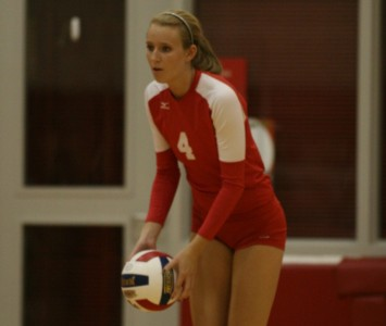 Senior Kim Scudder had 13 kills and two block assists Thursday night