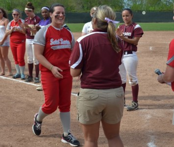Freshman Megan Nonnemacher earned co-CCAC Pitcher of the Year honors after Thursday's victory