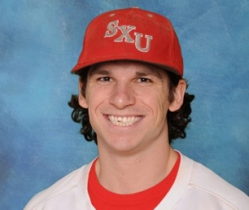 Senior Tony O'Shea was one of three SXU players to record two hits Sunday