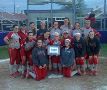 The Saint Xavier softball team won the 2013 CCAC Tournament Saturday with a 4-3 win over Olivet