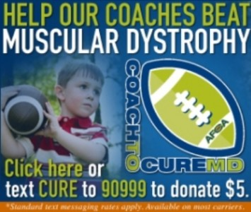 Support our SXU Football coaching staff by donating to the Coach to Cure MD initiative