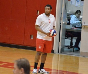Junior Justin Cousin had a match-high 13 kills Monday night against Clarke