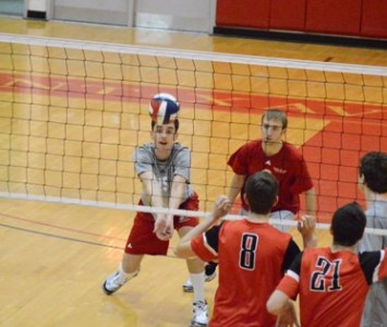 Junior Jacob Siska set a new school record with eight service aces against MSOE Wednesday night