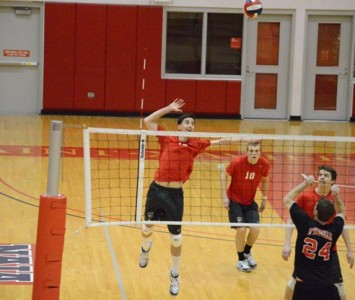 Junior Jacob Siska led Saint Xavier with 12 kills and 12 digs Tuesday night against D'Youville College