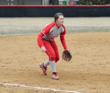 Sophomore Sarah Saunders had a two-run homer in Wednesday's first game to kick start the SXU offense