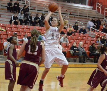 Sophomore Morgan Stuut had 27 points and 17 rebounds and broke 1,000 career points Wednesday against Robert Morris
