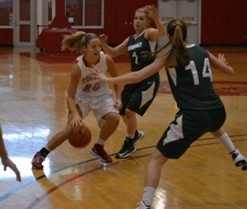 Sophomore Morgan Stuut continued her stellar play Saturday with 25 points and 19 rebounds against Roosevelt
