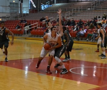Junior Brad Karp had game-bests of 23 points and 10 rebounds against Stritch Saturday