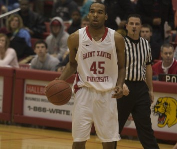 Senior Dominique Harvey led all scorers with 25 points against Olivet Saturday