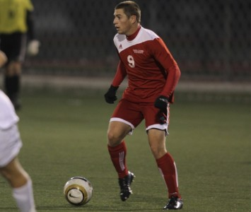 Senior Kyle Breitenbach nearly had a game-tying goal early in the second half for SXU Thursday