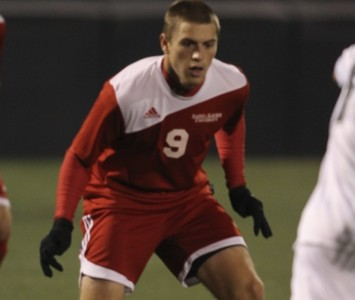 Senior Kyle Breitenbach scored Saint Xavier's lone goal Saturday against Holy Cross