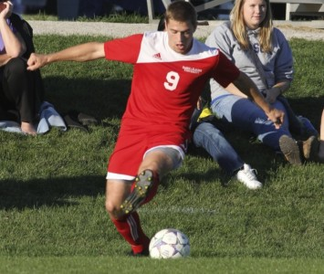 Senior Kyle Breitenbach had the game-winning goal against Taylor Tuesday