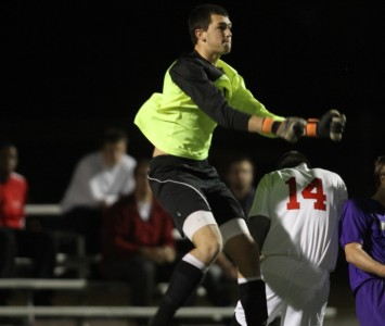 Junior Kyle Held had four saves on the night for Saint Xavier against Olivet