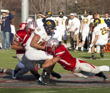 Senior linebacker Dave Marciano was named the NAIA Outstanding Defensive Player of the Game