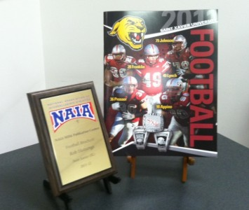 2011 SXU Football media guide earned