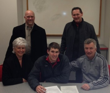 Casey Papp signs his letter of intent to continue his college career with SXU baseball