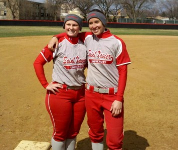 Senior softball players Kate Mollohan (left) and Ashley Sullivan (right) will lead the No. 10 Cougars to Portland, Ore.