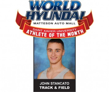 Sophomore John Stancato - World Hyundai-Saint Xavier April Athlete of the Month