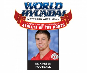 Junior running back Nick Pesek - World Hyundai-SXU Athlete of the Month