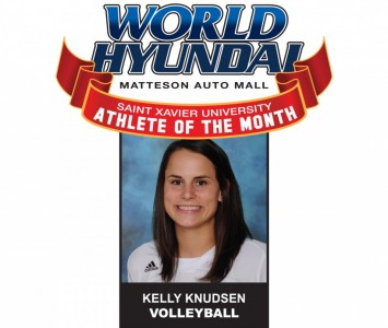 Senior Kelly Knudsen - World Hyundai-Saint Xavier Athlete of the Month for September 2012