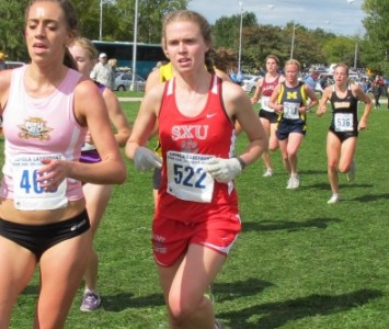 Senior Ashley Shares finished eighth overall to lead Saint Xavier Saturday