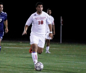 Sophomore Brandon Simoes scored SXU's second goal Saturday against IIT (photo: Keith Murphy)